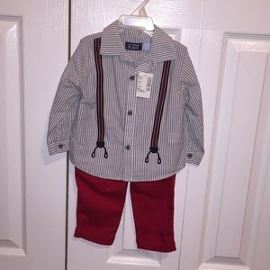 Children's Place collared shirt and pants set